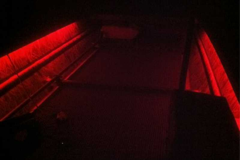 Low Light red LED installation for a Hunting skiff