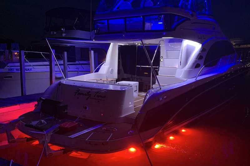58' SeaRay. Garmin and Shadow-Caster Lighting control all the lighting